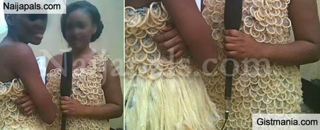 Ladies! Would You Rock This Dress Made From Condoms?
